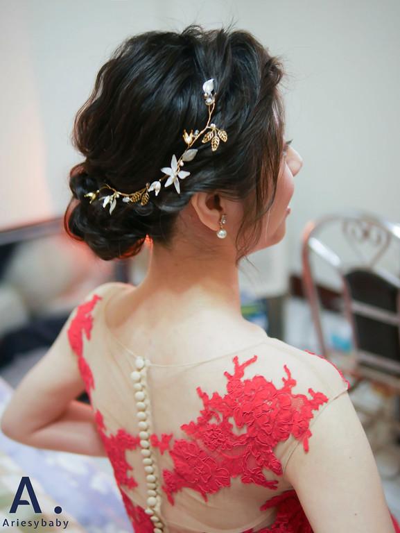 新祕,新娘祕書,文定造型,黑髮新娘造型,Ariesybaby造型團隊,編髮造型