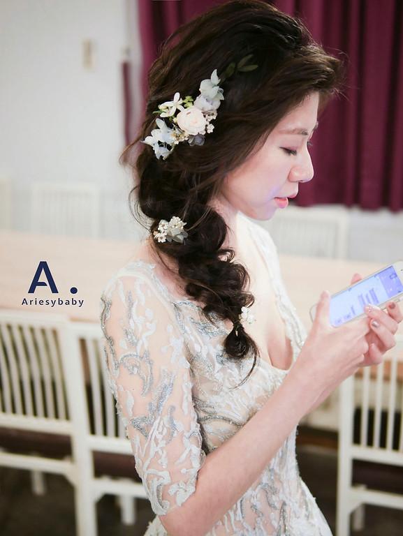 新祕,新娘祕書,送客造型,黑髮新娘造型,Ariesybaby造型團隊,花藝造型
