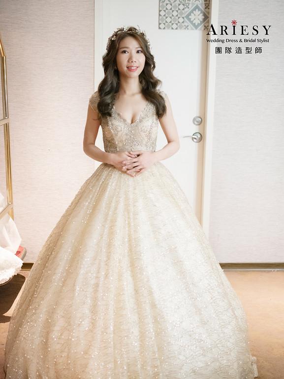 新娘秘書、花藝新娘造型、自然妝感、編髮新娘造型、新莊新秘
