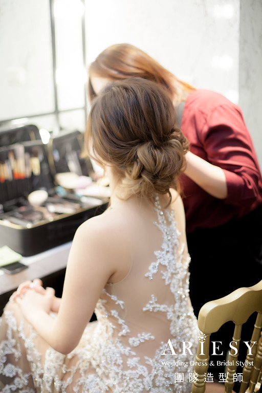 敬酒造型,白紗禮服造型,新娘髮型,歐美風格,歐美新娘妝