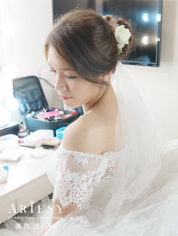 新娘秘書、花藝新娘造型、自然妝感、新秘、氣質典雅