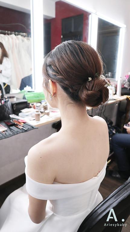 Ariesybaby造型團隊,新娘造型,新祕,新娘造型,自然乾淨妝感,新娘髮型,花藝飾品