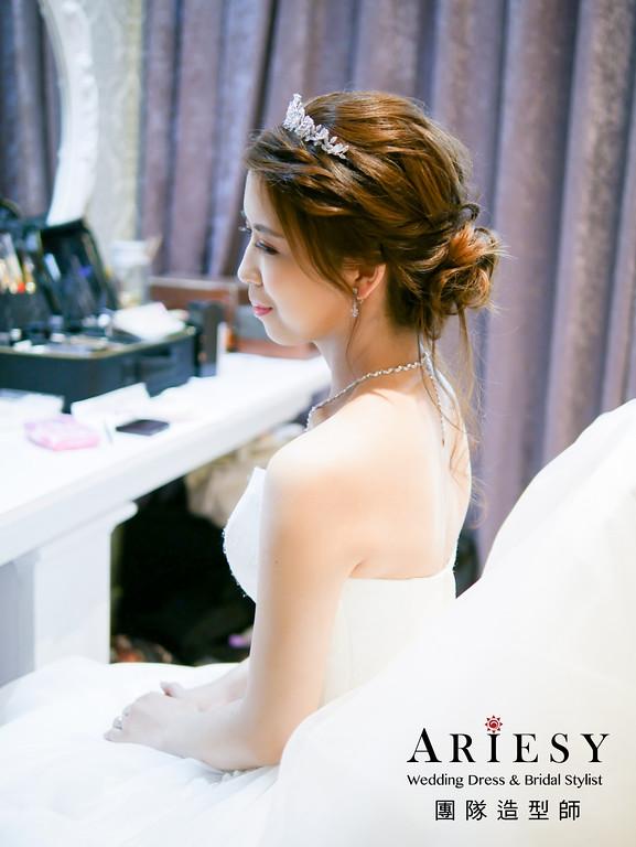 白紗進場髮型,新娘編髮造型,公主進場,歐美風格,新秘