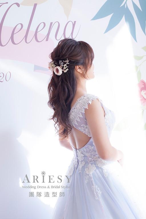 台北新祕,新娘秘書,新娘造型,編髮造型,花藝造型,自然清透妝感,新娘髮型,,新娘編髮,推薦新秘