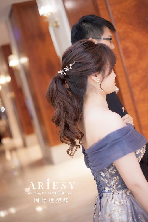 台北新祕,新娘秘書,新娘造型,編髮造型,馬尾造型,自然清透妝感,新娘髮型,新娘編髮,推薦新秘