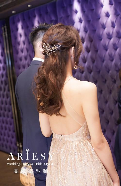台北新祕,新娘秘書,新娘造型,新娘編髮,馬尾造型,自然清透妝感,新娘髮型,時尚造型,推薦新秘