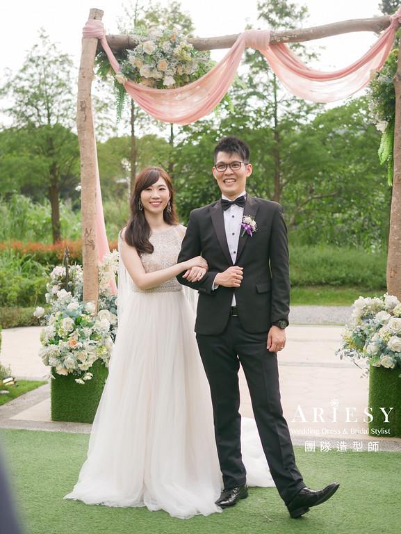 送客髮型,放髮造型,台北新秘,新娘妝感,歐美風格