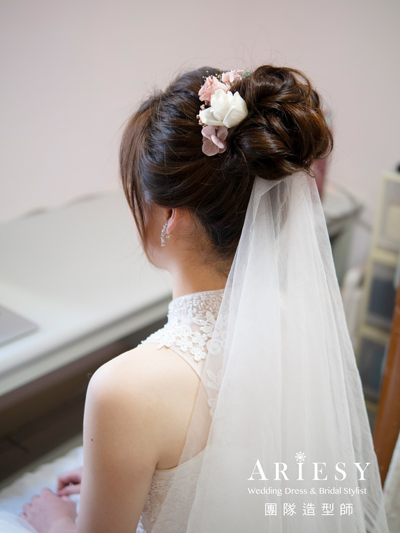 新娘秘書、花藝新娘造型、自然妝感、新秘、板橋新秘