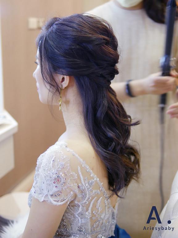 新娘祕書,新祕,Ariesybaby造型團隊,黑髮新娘造型,編髮造型