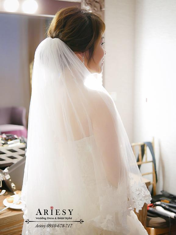 韓系新娘造型,白紗新娘造型,迎娶造型,新莊頤品,蘿亞婚紗