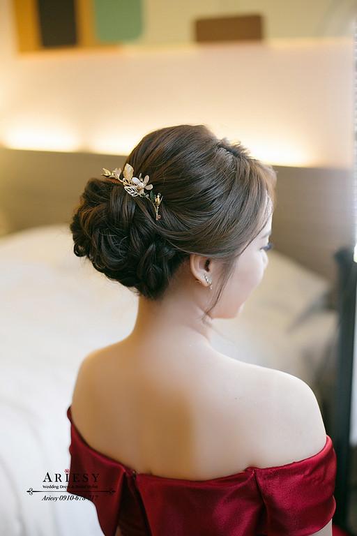 文定細軟髮造型,愛瑞思,ariesy,明星妝感,台北新秘,新娘秘書,新秘推薦