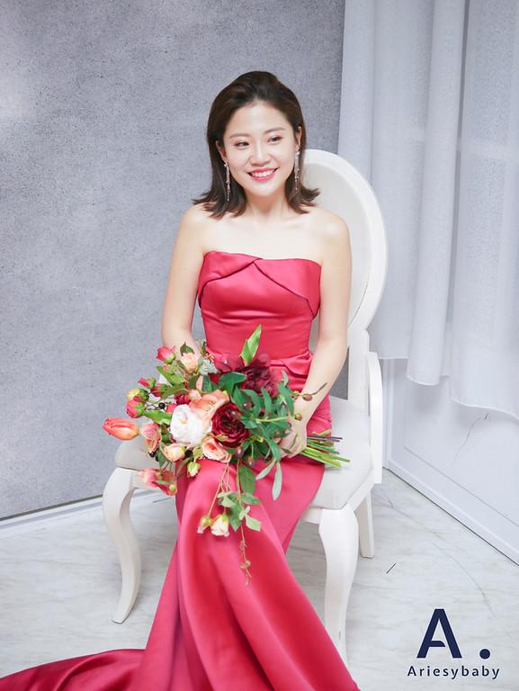 新祕,新娘祕書,短髮新娘造型,Ariesybaby造型團隊,時尚造型,韓系清透妝感