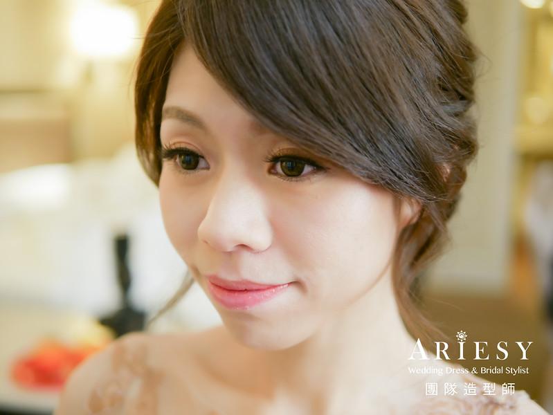 文定髮型,新娘編髮,新娘髮型,藕色禮服造型,新秘推薦