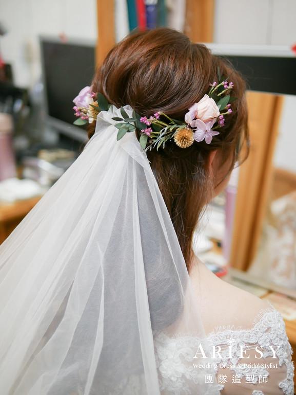 證婚造型,鮮花造型,白紗新娘造型,公主頭造型,新秘花藝