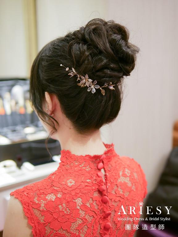 文定髮型,新娘編髮,新娘髮型,旗袍造型,台北新娘秘書
