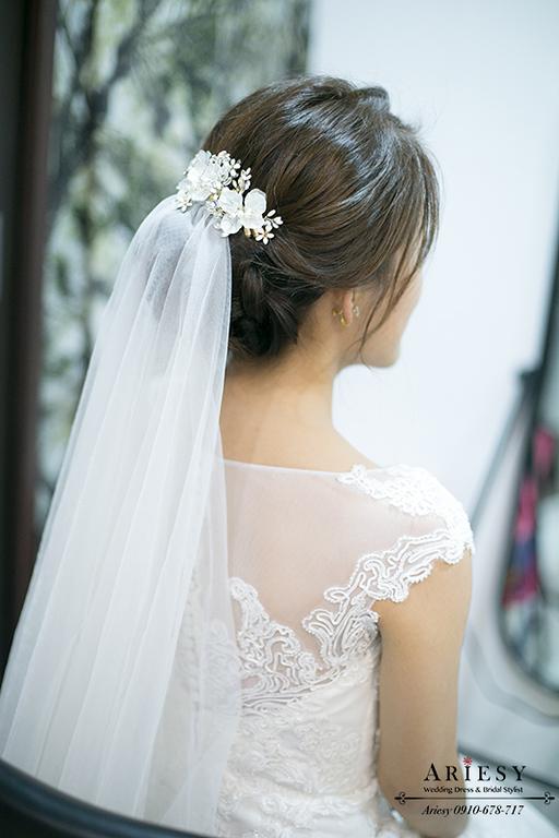 新娘秘書,新秘,台北新秘,ARIESY,白紗造型,迎娶造型