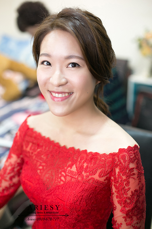 紅色禮服文定,紅色魚尾儀式,新娘秘書,新秘,台北新秘,ARIESY