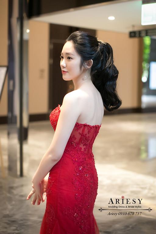 紅色禮服新娘造型,愛瑞思,ARIESY,新娘秘書,台北新秘,新秘推薦