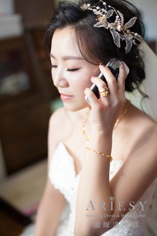 蓬鬆編髮,台北新娘秘書推薦,迎娶造型,鮮花造型,黑髮造型