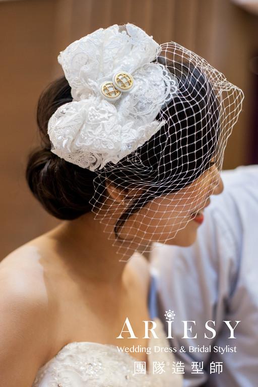 甜美復古造型,台北新秘,白紗造型,精緻妝感,黑髮造型