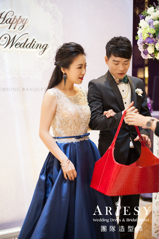 時尚造型,台北新秘推薦,送客造型,時尚妝感,黑髮造型