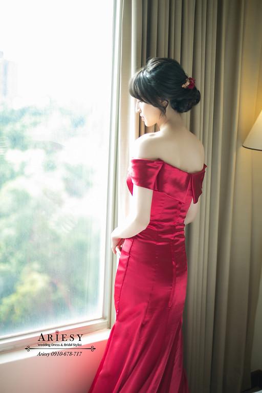 台北新秘推薦,低盤髮新娘造型,新娘秘書,黑髮新娘髮型,愛瑞思,ARIESY