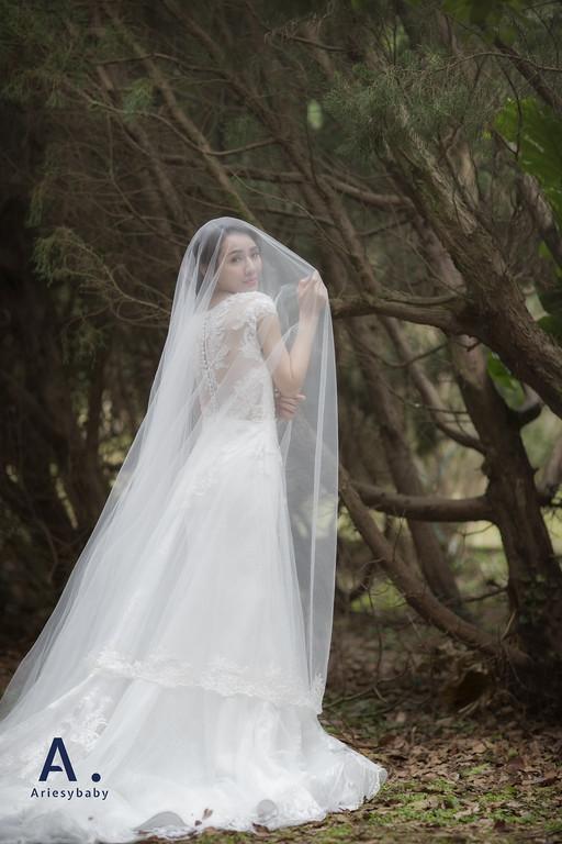 婚紗禮服工作室,編髮造型,韓系妝感,立體蕾絲唯美浪漫白紗,花藝造型