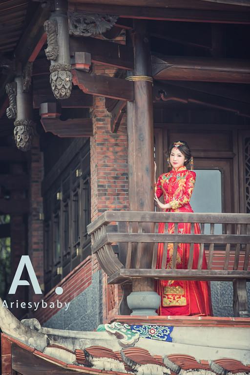 新娘髮型,秀禾服造型,愛瑞思品牌訂製手工婚紗,新娘秘書,林安泰古厝婚紗