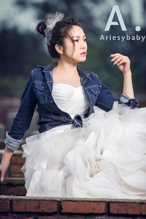 新娘造型,白紗造型,花苞頭造型,新娘秘書,牛仔休閒風造型