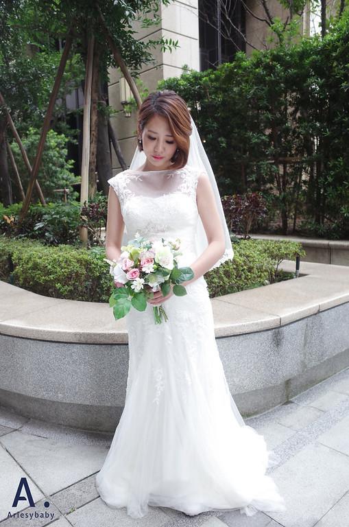 新娘秘書、新秘造型、短髮造型、鮑柏頭造型、新莊婚紗造型工作室