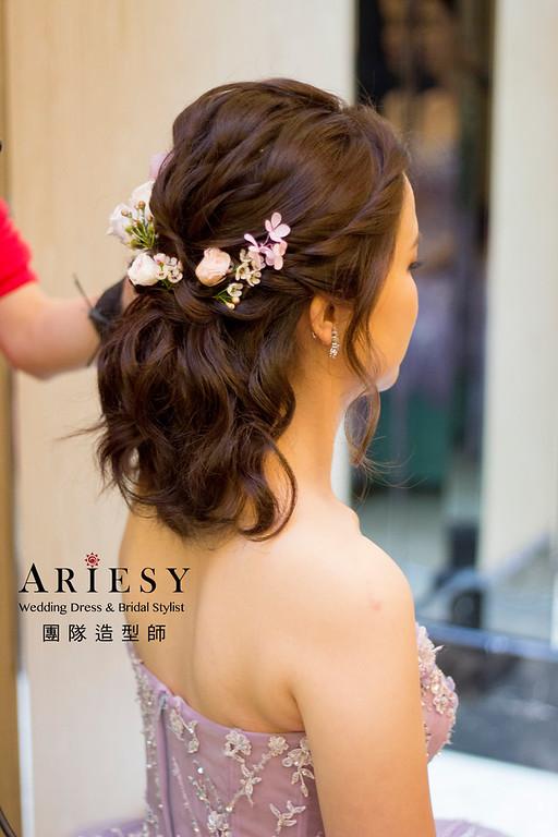 新娘秘書,新秘造型,自然清透妝感,短髮造型,文定造型