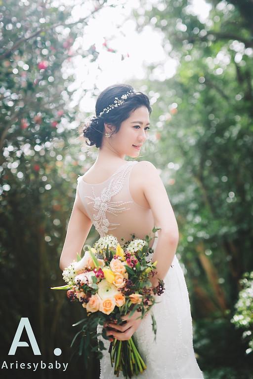 新娘髮型,白紗造型,黑髮新娘造型,愛瑞思品牌訂製手工婚紗,新娘秘書