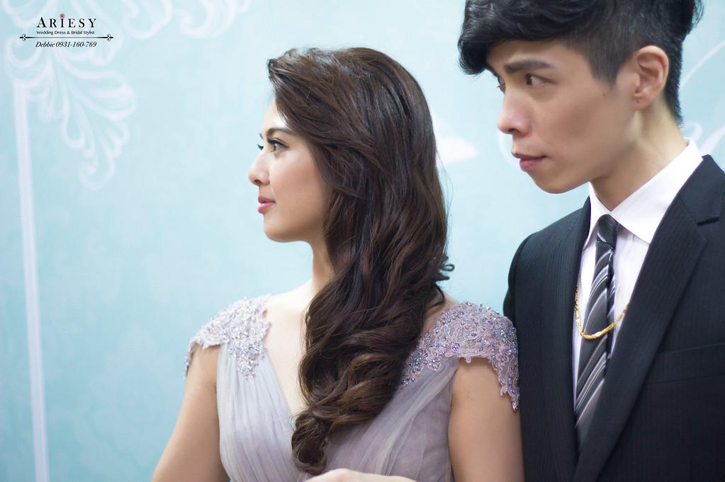 新娘秘書,新娘髮型,歐美風造型,龍鳳褂造型,苗栗新秘