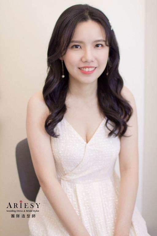 新娘造型,韓系清透妝感,韓系髮型,新秘,新娘秘書