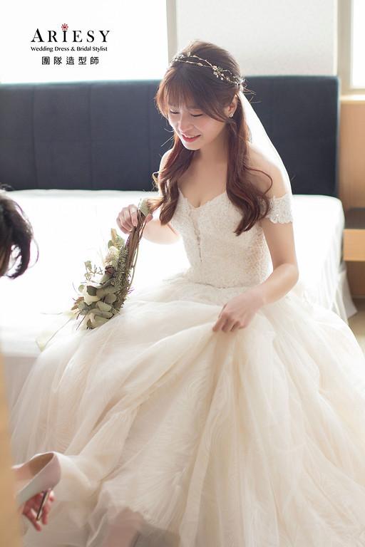 美式婚禮新娘造型,新娘妝感,新秘推薦,台中新秘,新娘秘書