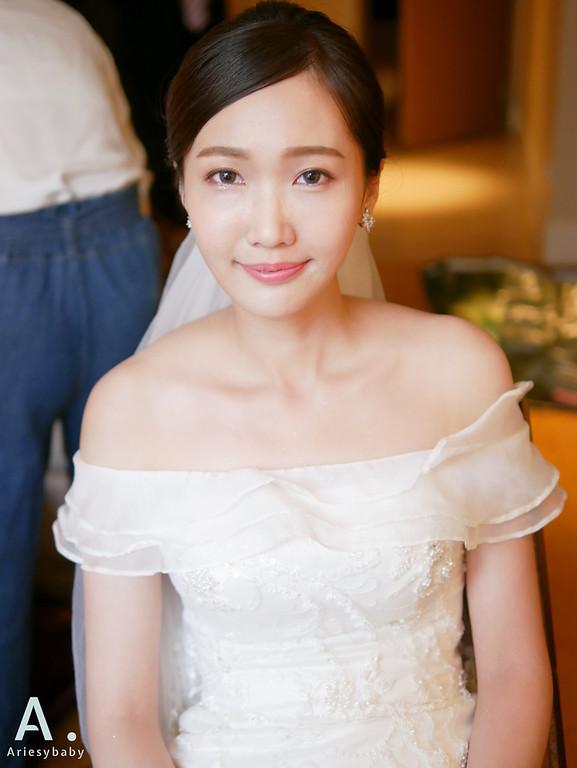 新娘髮型,新娘造型,白紗造型,旗袍造型,韓系妝感