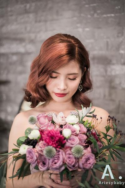 復古新娘髮型,歐美復古髮型,新娘造型,清透妝感