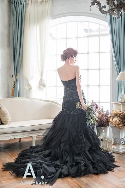 復古新娘髮型,指推瀏海,歐美復古髮型,新娘造型,清透妝感