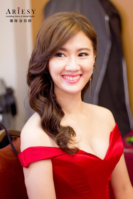 新娘秘書,新秘造型,自然清透妝感,台北新秘,復古髮型