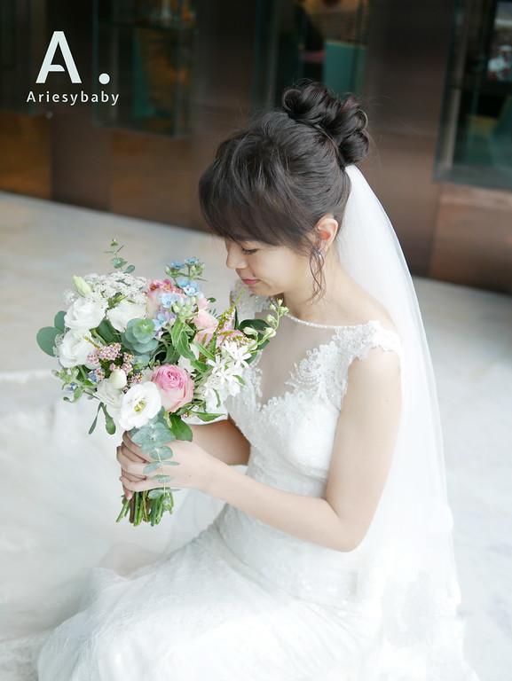 新祕,新娘祕書,白紗造型,鮮花捧花,Ariesybaby造型團隊,ARIESY愛瑞思品牌訂製手工婚紗