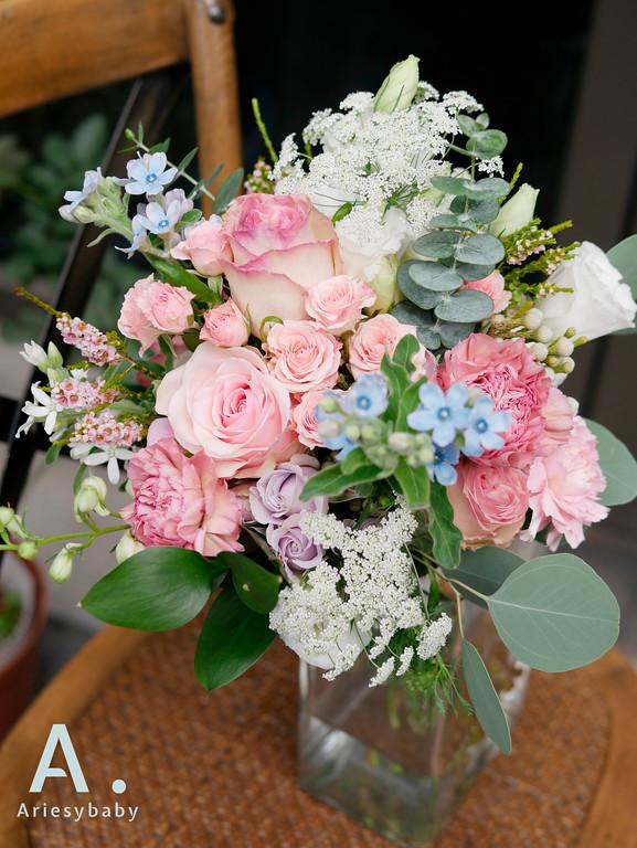 新祕,新娘祕書,Ariesybaby造型團隊,鮮花捧花,鮮花胸花
