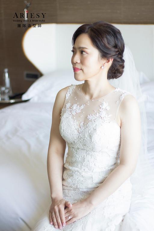 新娘秘書,新秘造型,短髮造型,花藝造型,文定造型,白紗造型