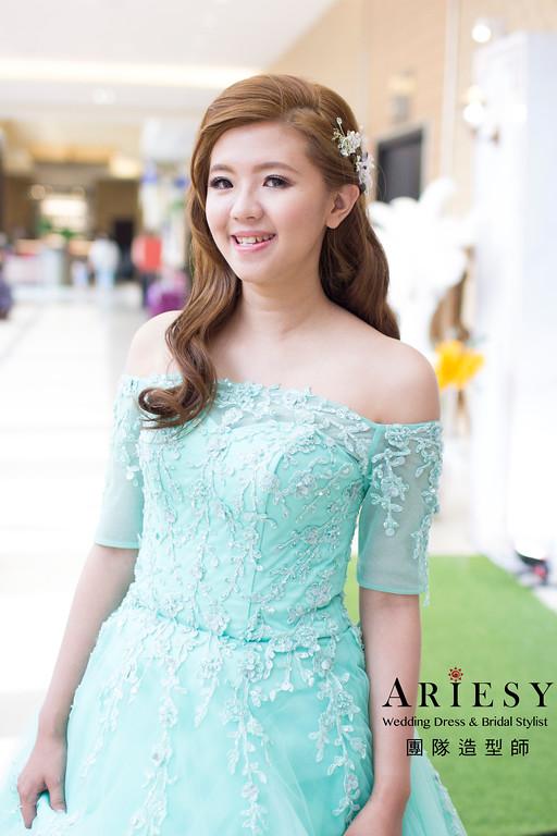 Ariesy造型團隊,編髮造型,台北新娘秘書,鮮花造型,空氣感造型