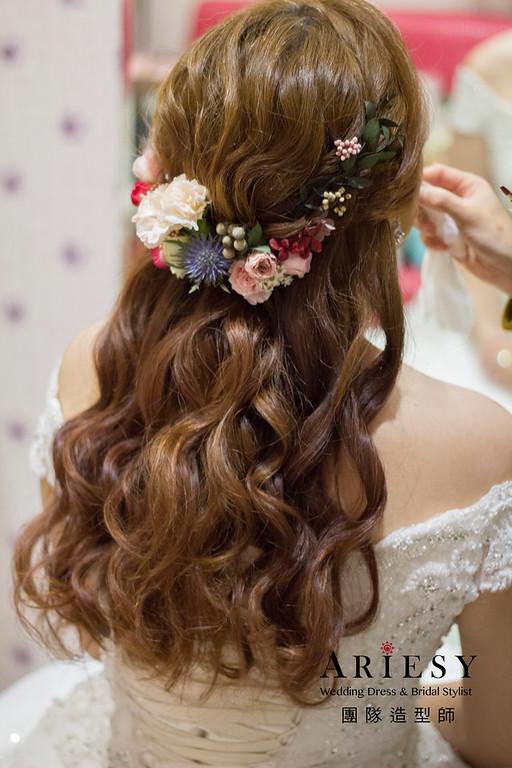 新娘秘書,新秘造型,花藝造型,白紗新娘造型,新娘韓系妝感