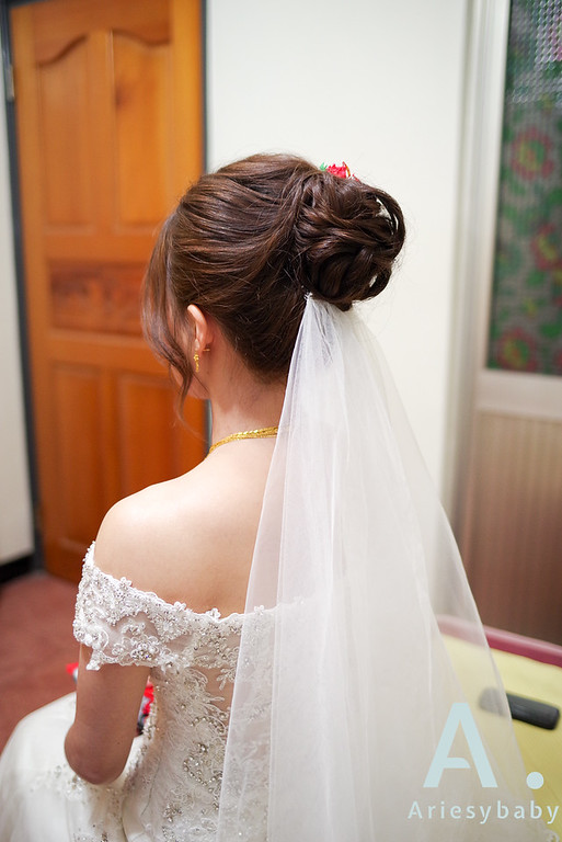 金門新秘,新娘造型,編髮造型,大波浪造型,乾燥花捧花