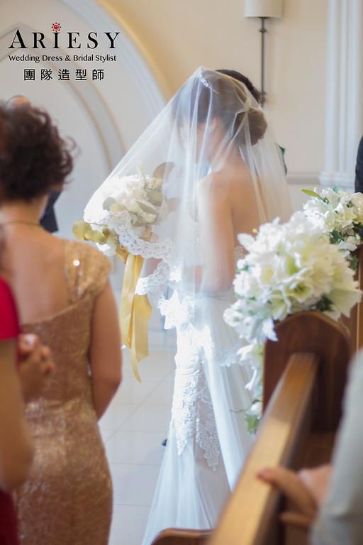 新娘秘書,新秘造型,自然清透妝感,翡麗詩莊園,教堂婚禮,翡麗詩新娘,證婚造型,編髮造型