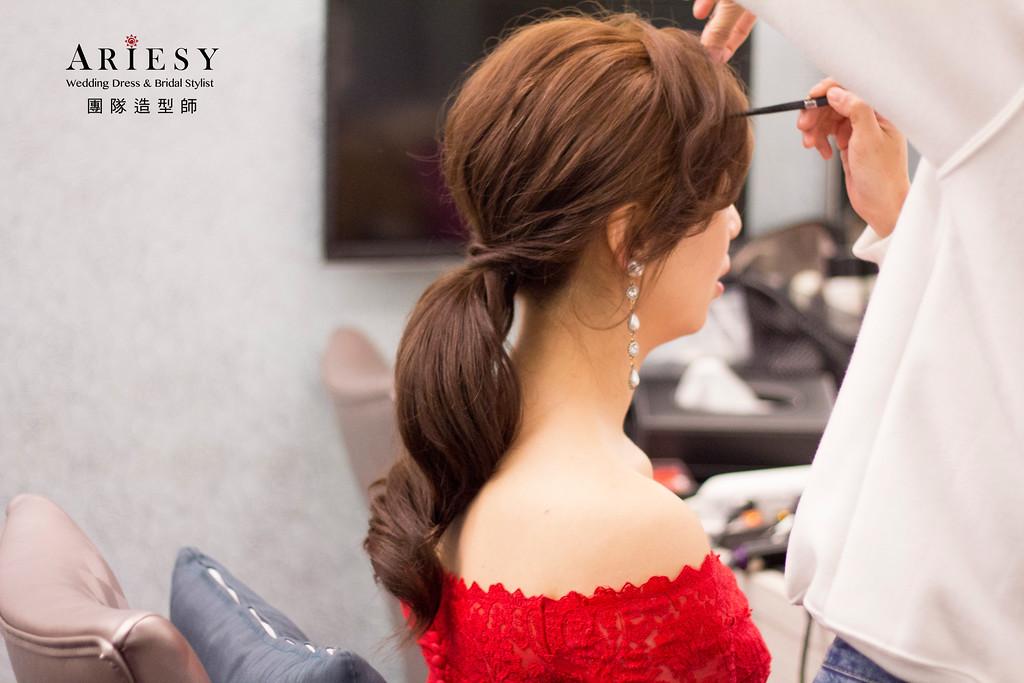 新娘秘書,新秘造型,自然清透妝感,時尚歐美風造型,韓系造型