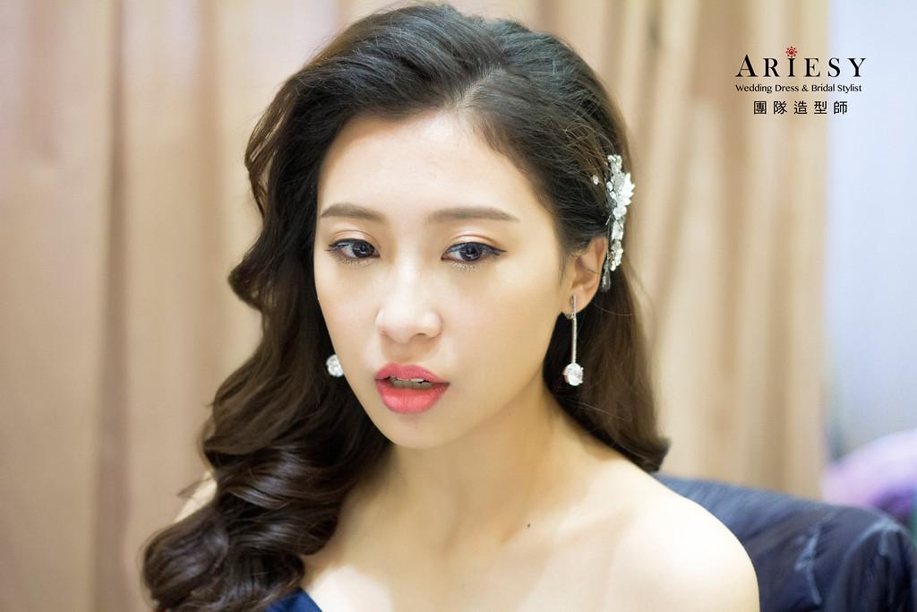新娘秘書,新秘造型,自然清透妝感,白紗造型,龍鳳掛造型