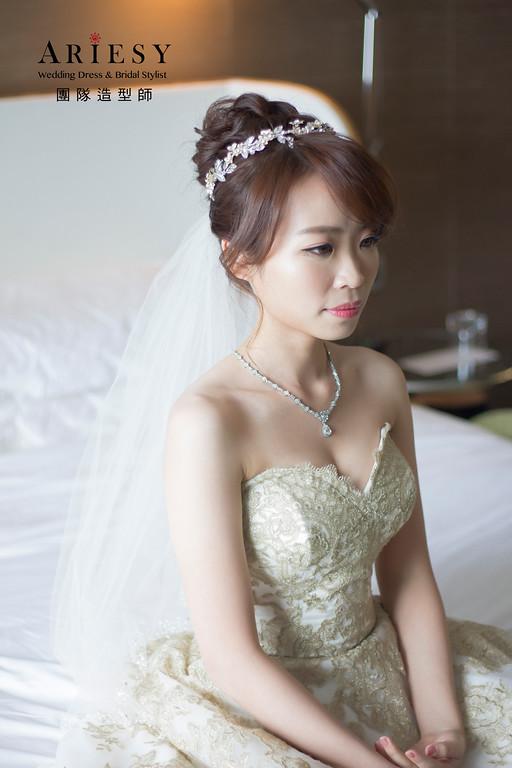 新娘秘書,新秘造型,自然清透妝感,白紗造型,編髮造型
