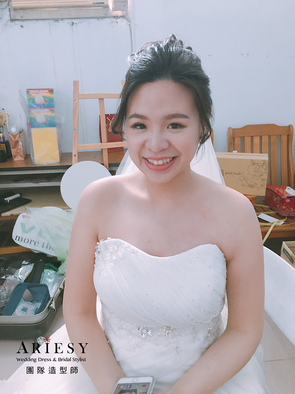 新娘秘書,新秘造型,自然清透妝感,旗袍造型,嘉義新秘